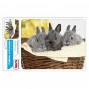 BURO Коврик для мыши BU M40092 рисунок/кролики