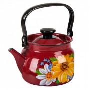 КМК Эмалированный чайник 2,0л. 42715 103/6 красный