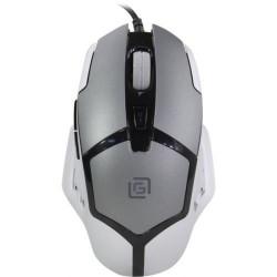 OKLICK Мышь 915G, игровая, оптическая, проводная, USB, черный и серебристый 1068916