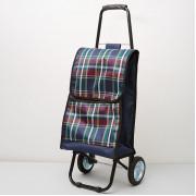 DELTA Тележка багажная ручная 50 кг DT 23 синяя с бордовым