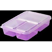 АР-ПЛАСТ Контейнер трёхсекционный 1,5 л. 050061 фиолетовый