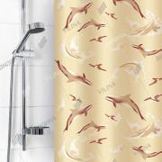 """VILINA Занавес для ванной комнаты 180 x 180 см """"Дельфины"""" 6984 бежевый"""