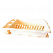 АР-ПЛАСТ Сушилка для посуды 16014 бежевый