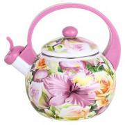 """METALLONI Эмалированный чайник 2,5 л.""""Орхидея"""" ЕМ 25001/8"""