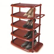 DD STYLE Полка для обуви 5 секций коричневый 08002