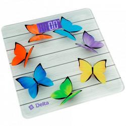 Весы напольные электронные Delta Радужные бабочки D 9218