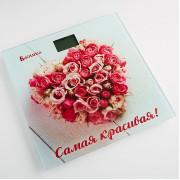 """ВАСИЛИСА Весы напольные электронные """"Самая красивая розы"""" ВА 4006 DL"""