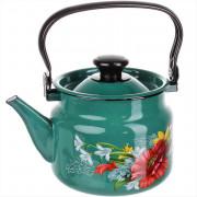КМК Эмалированный чайник 2,0л. 42715 103/6 бирюзовый