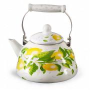 """METALLONI Эмалированный чайник 3,0 л. """"Лимоны"""" EM 301X1/62 DL"""