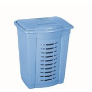 DD STYLE Корзина для белья 50 л. 05001 голубой перламутр