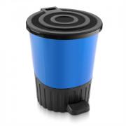 DD STYLE Ведро для мусора 14,0 л. 01062 синий перламутр