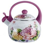 """METALLONI Эмалированный чайник 2,5 л. """"Чайная роза"""" EM 25101/35"""