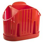 М- ПЛАСТИКА Сушилка для столовох приборов М 1160 красный
