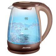 АКСИНЬЯ Электрический чайник КС 1040 DL бежевый с коричневым
