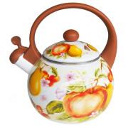 """METALLONI Эмалированный чайник 2,5 л. """"Фруктовый сад"""" ЕМ 25001/37 А"""