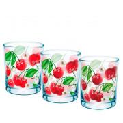 "GLASSTAR Набор стаканов 3 пр. "" Вишневый сад"" 424030338"