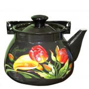 КМК Эмалированный чайник 3,0л. 42104 122/6 коричневый
