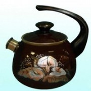 КМК Эмалированный чайник 2,0л. 43604 102/10.6 коричневый