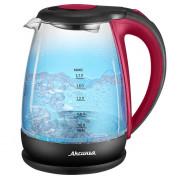 АКСИНЬЯ Электрический чайник КС 1040 DL красный с черным