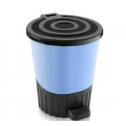 DD STYLE Ведро для мусора 14,0 л. 01062 голубой