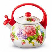 """METALLONI Эмалированный чайник 2,5 л.""""Летний сад"""" ЕМ 25101/63"""