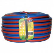 ГИДРОАГРЕГАТ Шланг поливочный 1/2 дюйма, 25 м, армированный, 3-х слойный синий с оранжевой полосой