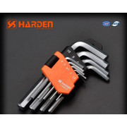 HARDEN Набор коротких шестигранных ключей типа Г 9шт. 540602