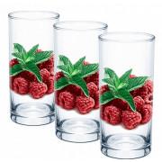"GLASSTAR Набор стаканов 3 пр. ""Малина"" ДСГ424020376"