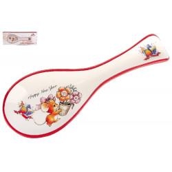 "КОРАЛЛ Подставка для ложки ""Мышка с цветами"" HC172-NY25"
