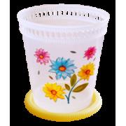"""АР-ПЛАСТ Кашпо """"Орхидея"""" 1,0 л. 07027 лимон"""
