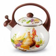 """METALLONI Эмалированный чайник 2,5 л. """"Валенсия"""" ЕМ 25101/65"""