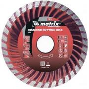 Matrix Professional Диск алмазный, отрезной Turbo, 230 х 22,2 мм, сухая резка 73183